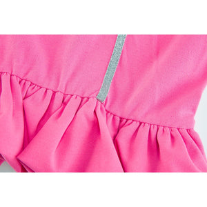 Ruffled Hem Zipper Short Skirt