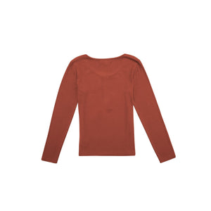 Knit Rib Round Neck Shirt