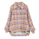Plaid Loose Long Sleeve Coat