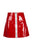 Red A-Line High Waist Zipper Short Skirt