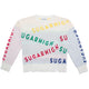 Ripped Alphabetic Pullover Sweater