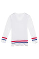 White Long Sleeve Graphic Sweater