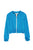 Fashion Blue Print Zipper Jacket