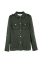 Shirt Collar Long Sleeve Pocket Jacket