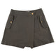 Solid Culotte Skirt Shorts