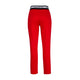 Petite Red Long Leg White stripe Pants Chino