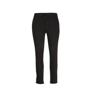 Side Contrast Zippered Pants