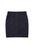 Navy Jacquard Zipper Short Skirt