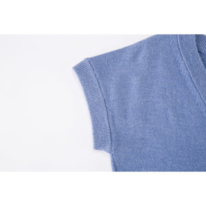 V-Neck Short Sleeve Knit Shirt