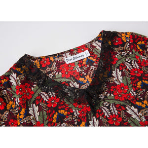 Floral Printed Lace Top