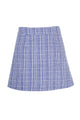 Plaid A-Line Short Skirt