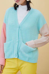 Multi-Color Casual Long Sleeve Cardigan Sweater