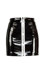 Black High Waist Zipper Short Skirt