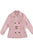 Pink Double Breast Belted Coat