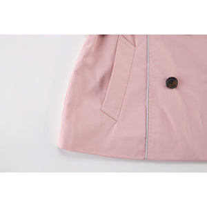 Pink Breasted Belt Coat