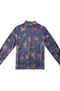 Floral Printed Woven Tied Top