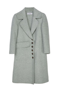 Lapel Long Sleeve Long Coat