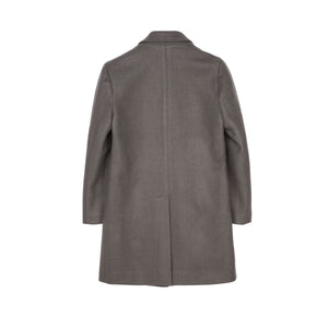 Olive Lapel Long Sleeve Long Coat