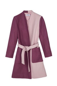Purple and Pink Pocket Belt Coat
