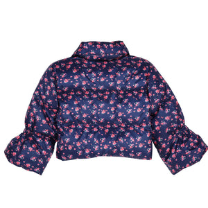 Flower Printed Short Down Jacket