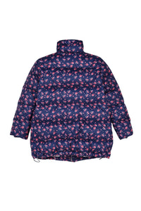 Floral Printed Puffer Zip Up Down Jacket