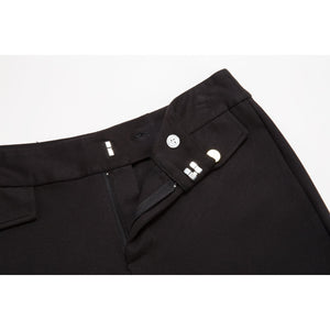 Flared Slim Solid Long Pants