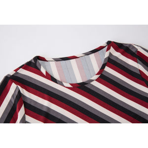 Stripe Casual Long Sleeve Top