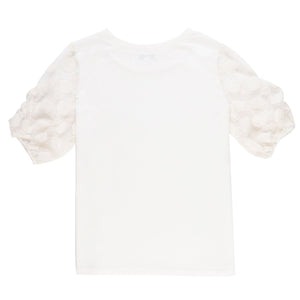 Off-White Lace Sleeve Top