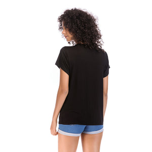 Ladies Knit Short Sleeve Woman Tee