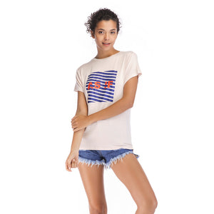Ladies Knit Short Sleeve Asif Tee