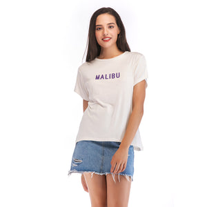 Ladies Knit Short Sleeve Malibu Tee