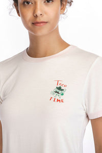 Ladies Knit Taco Time Tee SH