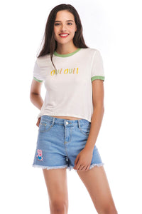 Ladies Knit Short Sleeve Oui Tee SH