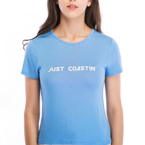 Ladies Knit Short Sleeve Coastin Tee SH