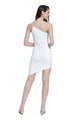 Ladies White One Shoulder Party Dress