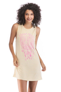 Ladies Knit Stripe Dress