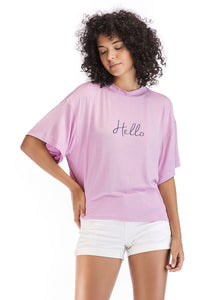 Ladies Short Sleeve Hello Tee