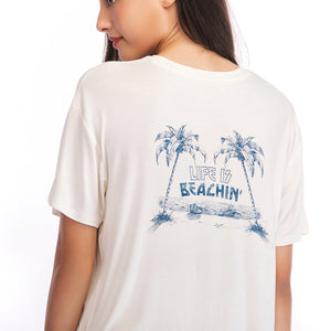 Ladies Knit Coconut Tree Back Top