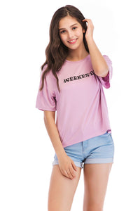 Ladies Knit Short Sleeve Weekender Tee