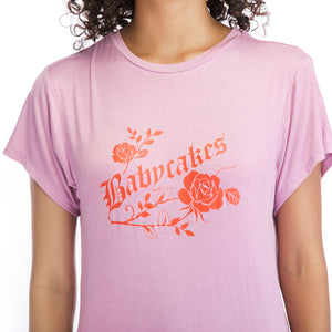 Ladies Short Sleeve Rose Tee
