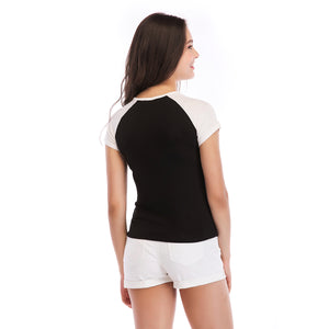 Ladies Knit Short Sleeve Badas Tee