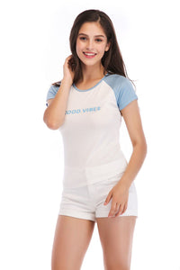 Ladies Knit Short Sleeve Vibes Tee SH