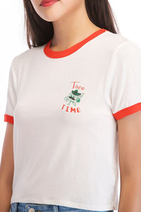 Ladies Knit Taco Time Tee