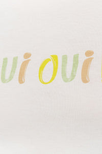 Ladies Knit Short Sleeve Oui Tee