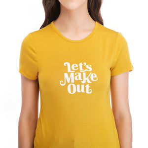 Ladies Knit Short Sleeve Makeout Tee