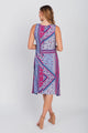 Americana Print Sleeveless Midi Dress Navy/Ski Patrol