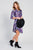 Cowl Neck Sweater Dress Purple