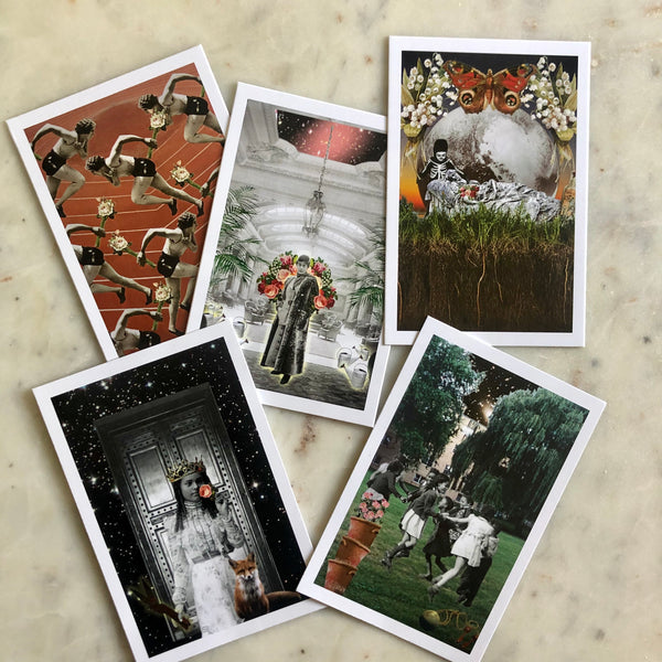 Rosebud Tarot Postcard Collection - set of 5 - Limited Edition