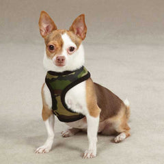 Casual Canine Fabric Camo Dog Harnesses