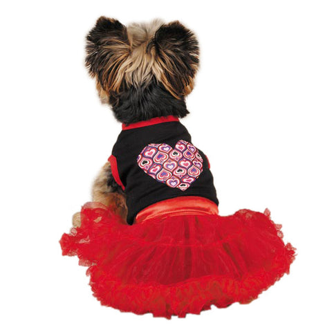 East Side Collection Full of Heart Tutu Dog Dress